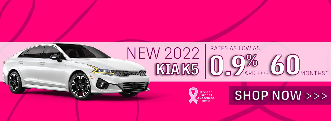 New 2022 Kia K5 .9% APR for 60 Months