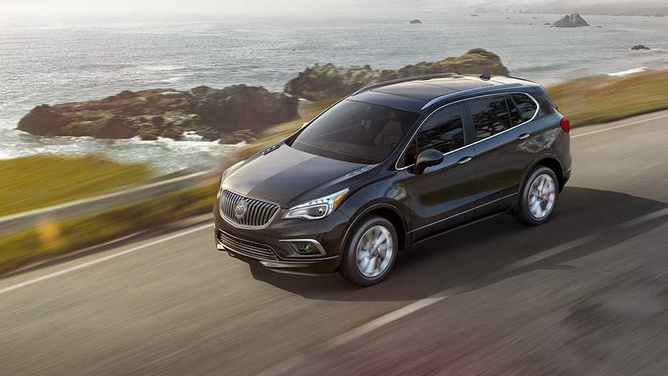 2017 Buick Envision on the road