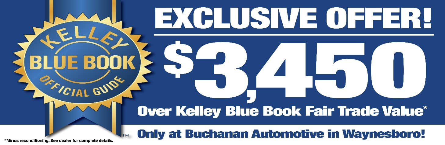 kelley blue book, trade in, new car, used car, buchanan auomotive, waynesboro, pennsylvania