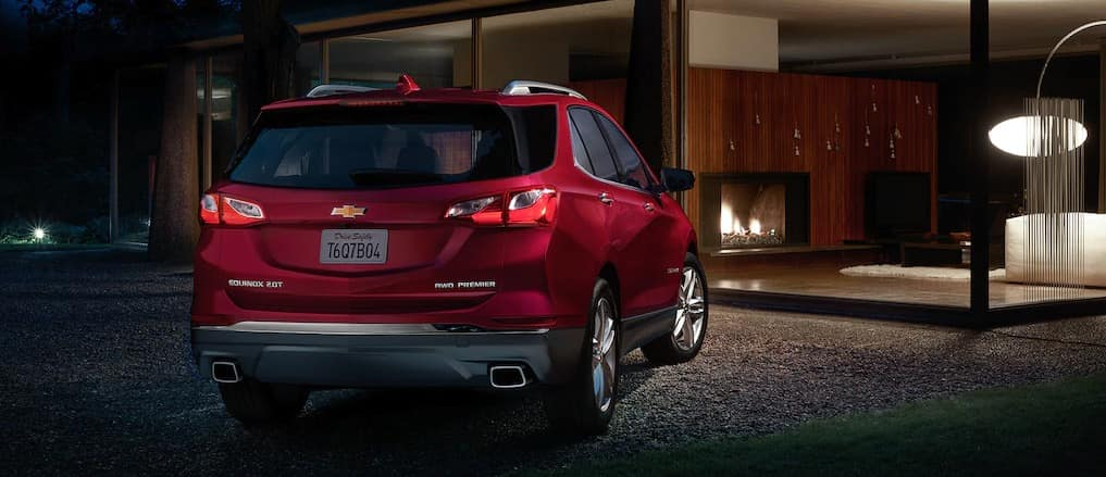 2021 Chevy Equinox Outside At Night