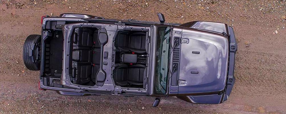 2019 Jeep Wrangler Overhead View