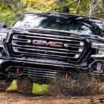 GMC Sierra Denali off-roading