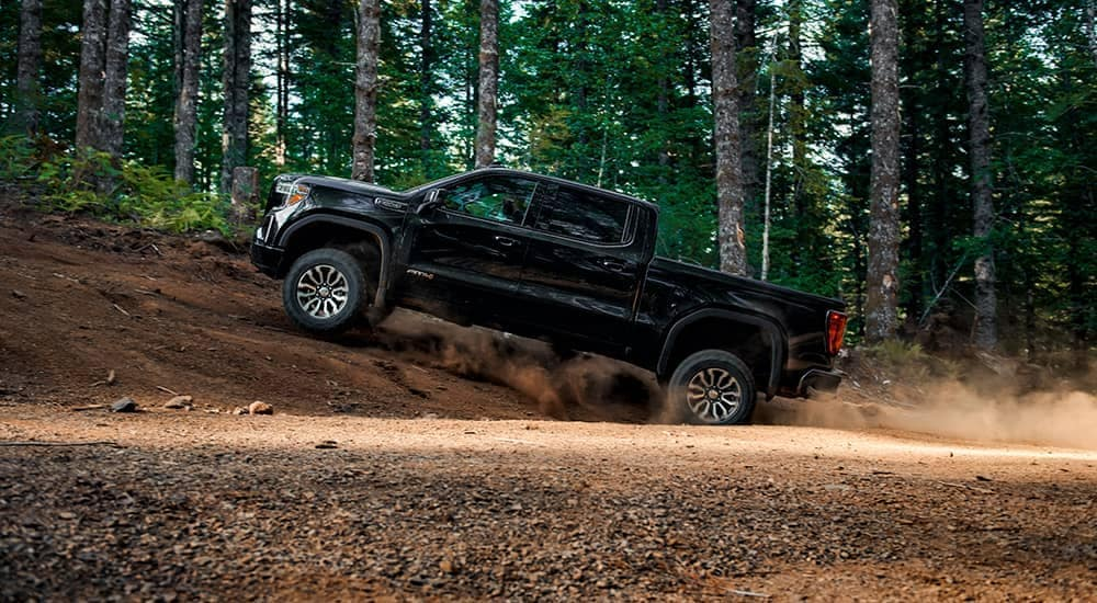 2019 GMC Sierra 1500 AT4 off-road in the forest