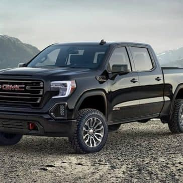 2019 GMC Sierra 1500 AT4 in the mountains