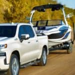 Chevrolet Silverado 1500 Towing Boat