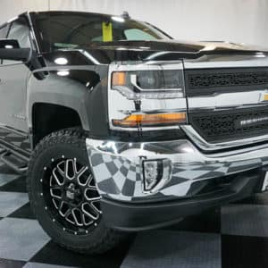 Black Silverado with Dual Running Boards