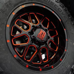 Black and Red XD Alloy Wheels