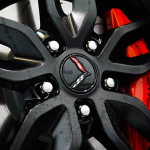 Corvette Logo Wheels with Brake Caliper and Rotor