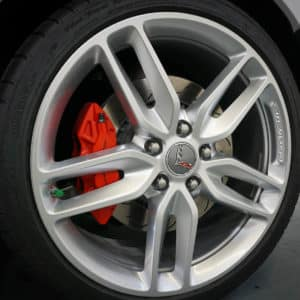 Corvette Wheel Closeup with Brembo Brake