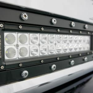 Grille-Mounted Light Bar on Silverado HD Grizzly
