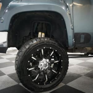 Lifted GMC SIerra Wheel Close-up