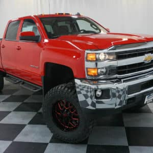 Lifted Red Silverado HD Pickup
