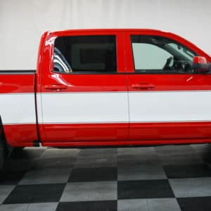 Red Chevy Big 10 Cheyenne Silverado with White Stripe