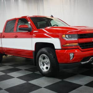 Red Chevy Silverado Big 10 Cheyenne Edition