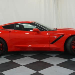 Red Corvette Profile