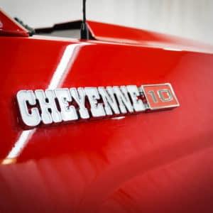 Silverado Cheyenne Big 10 Badging