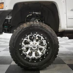 White Silverado Altitude Lifted Truck