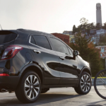2020 buick enclave near cyclists
