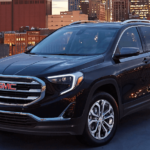 2020 GMC terrain black parked in city