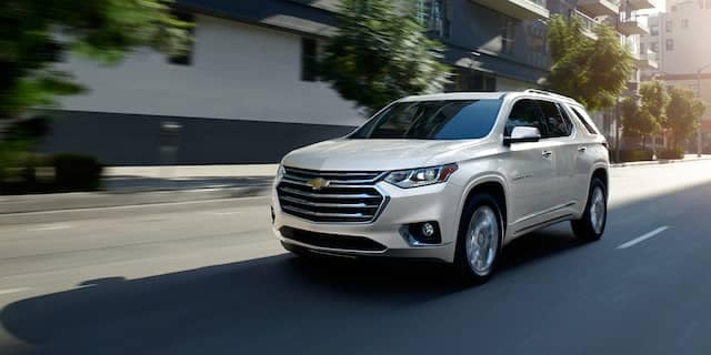 2020 Chevy Traverse Driving