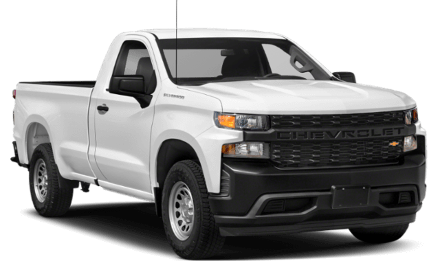 2020 Chevy Silverado 1500 white comparison thumbnail