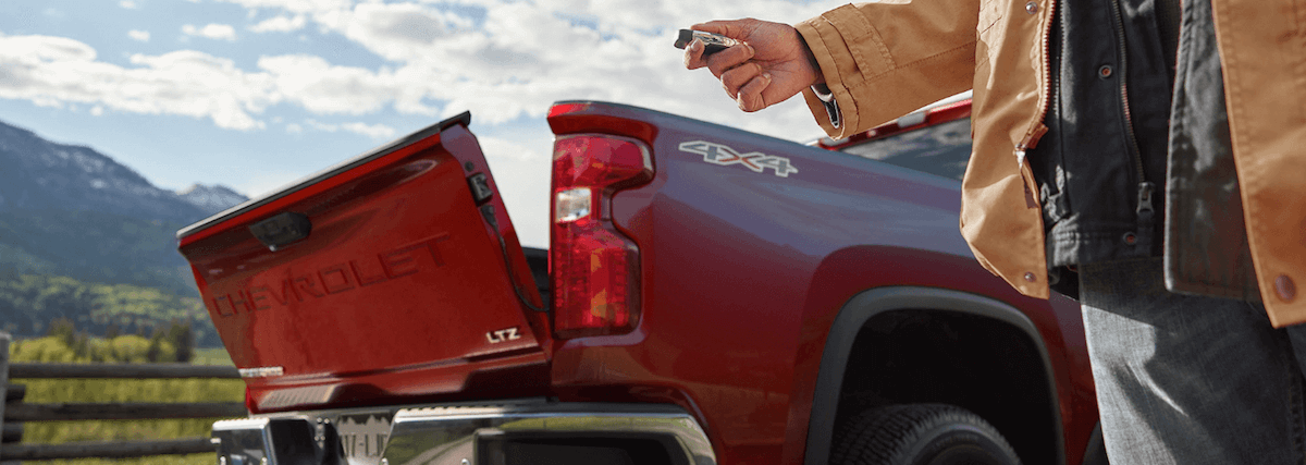 2020 Chevy Silverado truck bed with gate down
