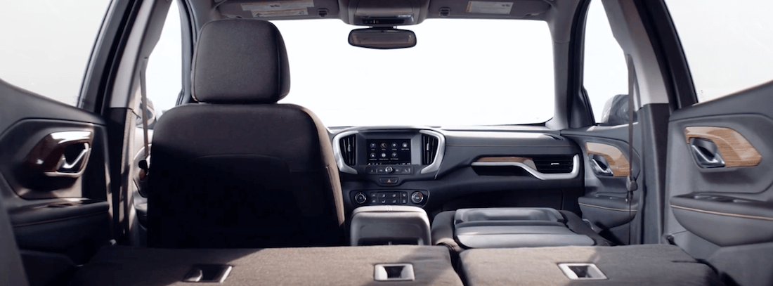 2020 GMC Terrain Interior with rear seats folded down
