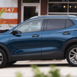 2020 Buick Encore GX parked on street in blue