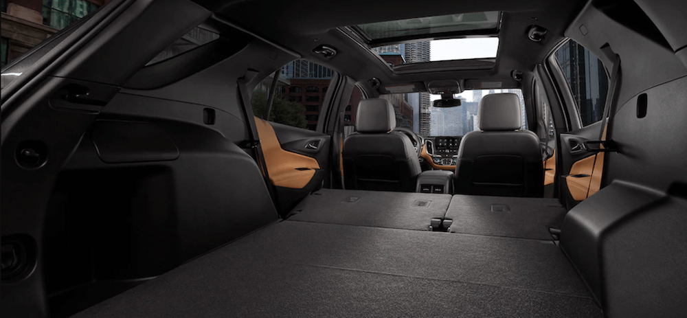 2021 Chevy Equinox Interior dimensions banner seats down