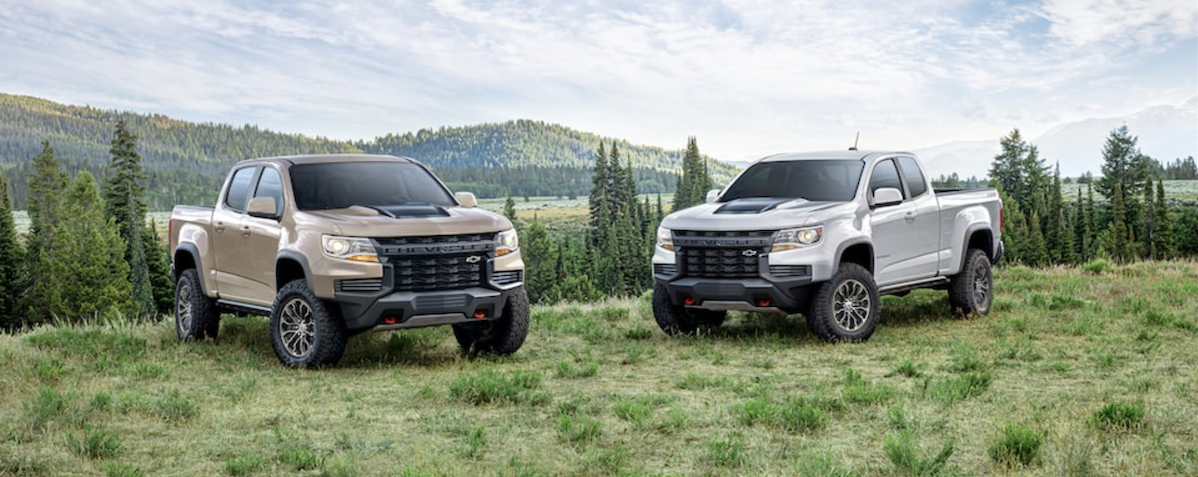 2021 Chevrolet Colorado Comparison Banner