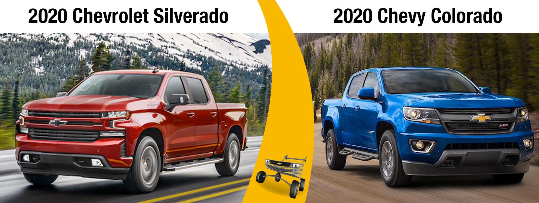 2020 Chevy Silverado vs 2020 Chevy Colorado