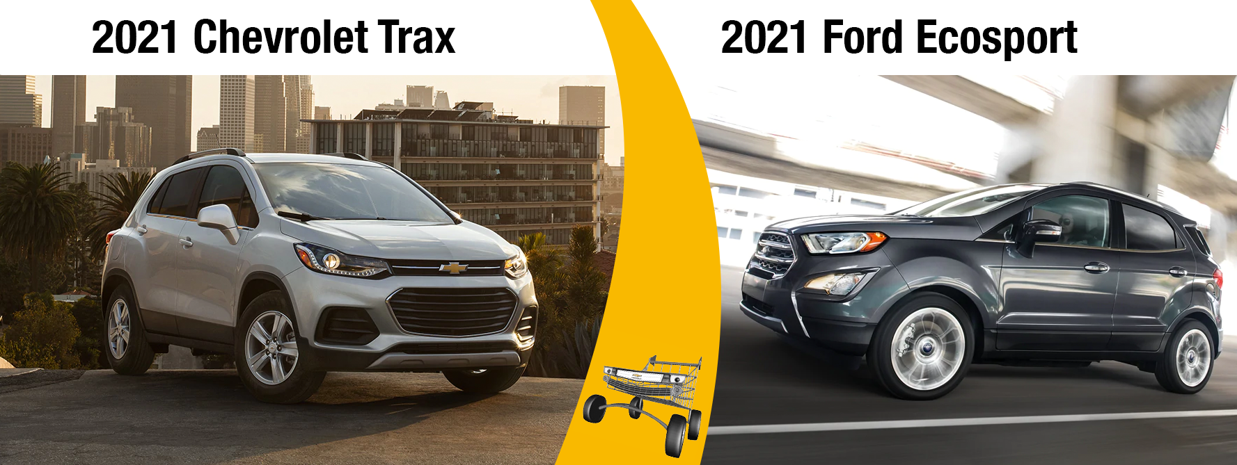 2021 Chevy Trax vs 2021 Ford EcoSport Fuel Economy and Size