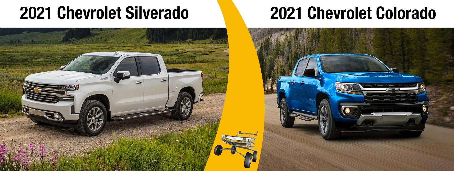 2021 Chevy Silverado vs 2021 Colorado Chicago IL