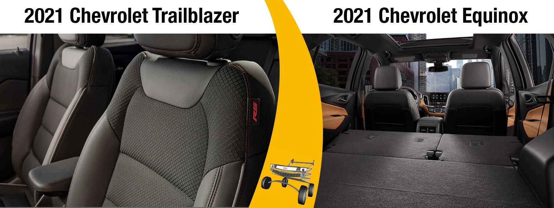 2021 Chevy Trailblazer vs 2021 Chevy Equinox Interior
