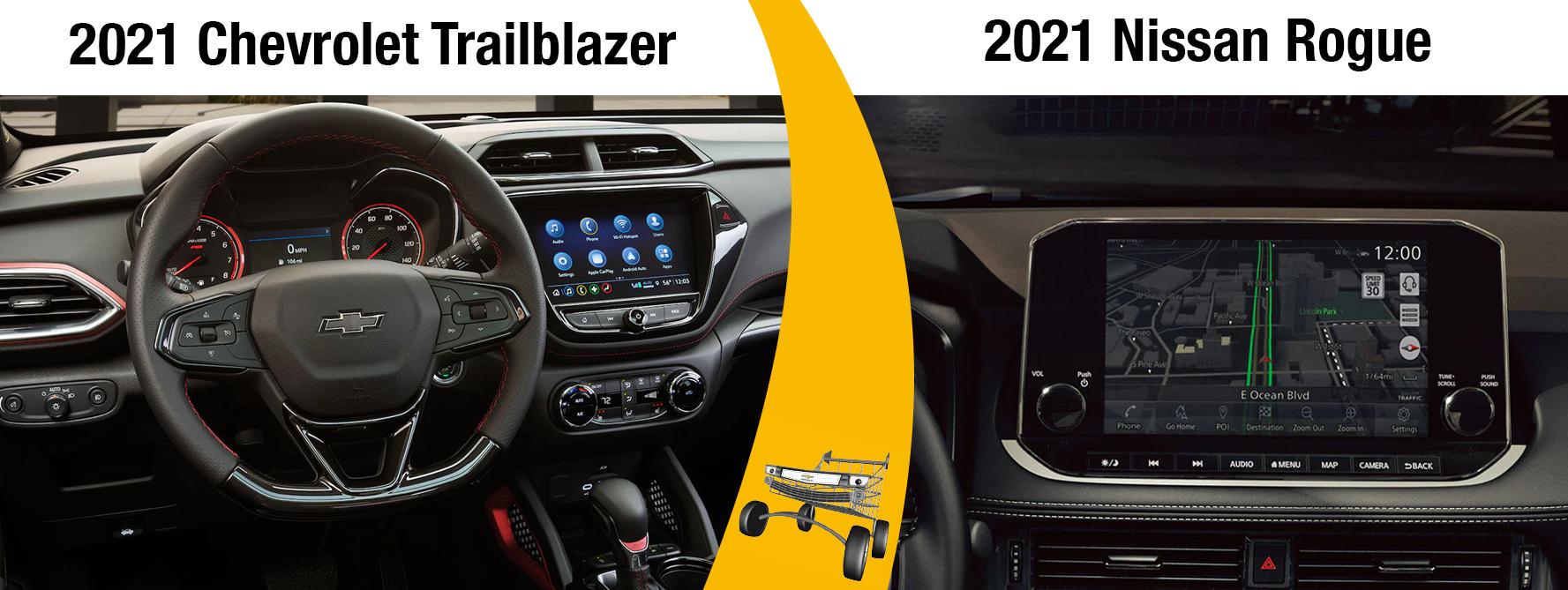 2021 Trailblazer vs 2021 Nissan Rogue Safety Features