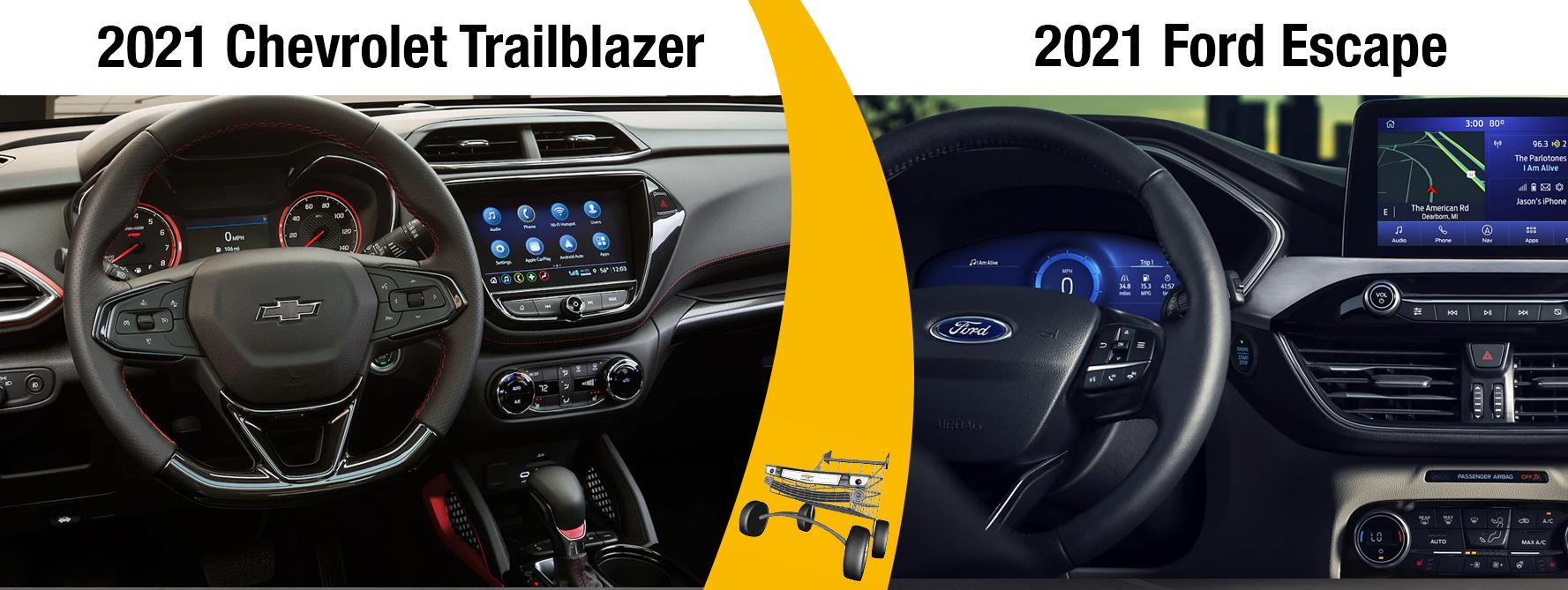2021 Chevrolet Trailblazer Vs. 2021 Ford Escape Comparisons