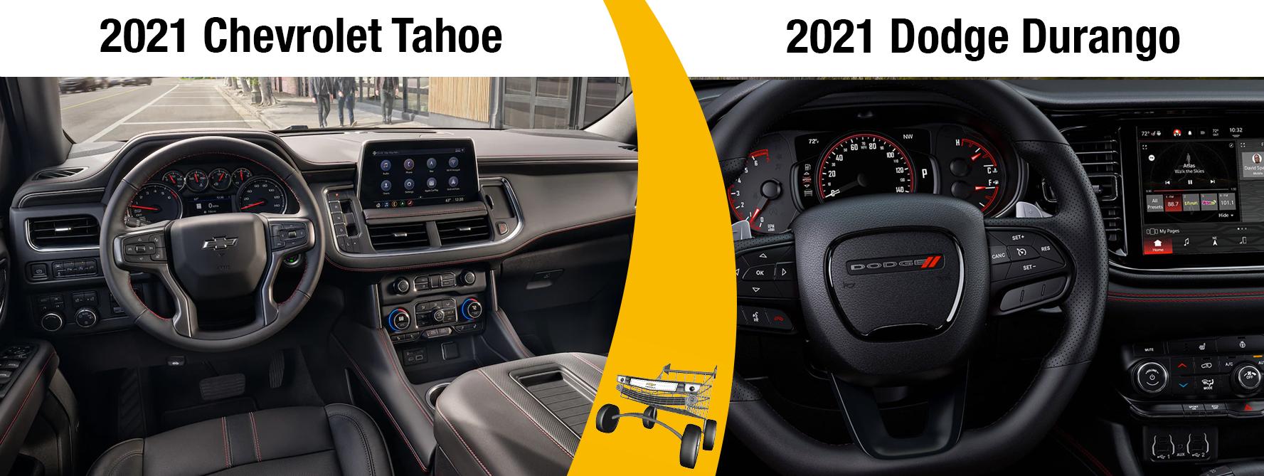 New 2021 Chevrolet Tahoe Vs. the 2021 Dodge Durango Comparisons