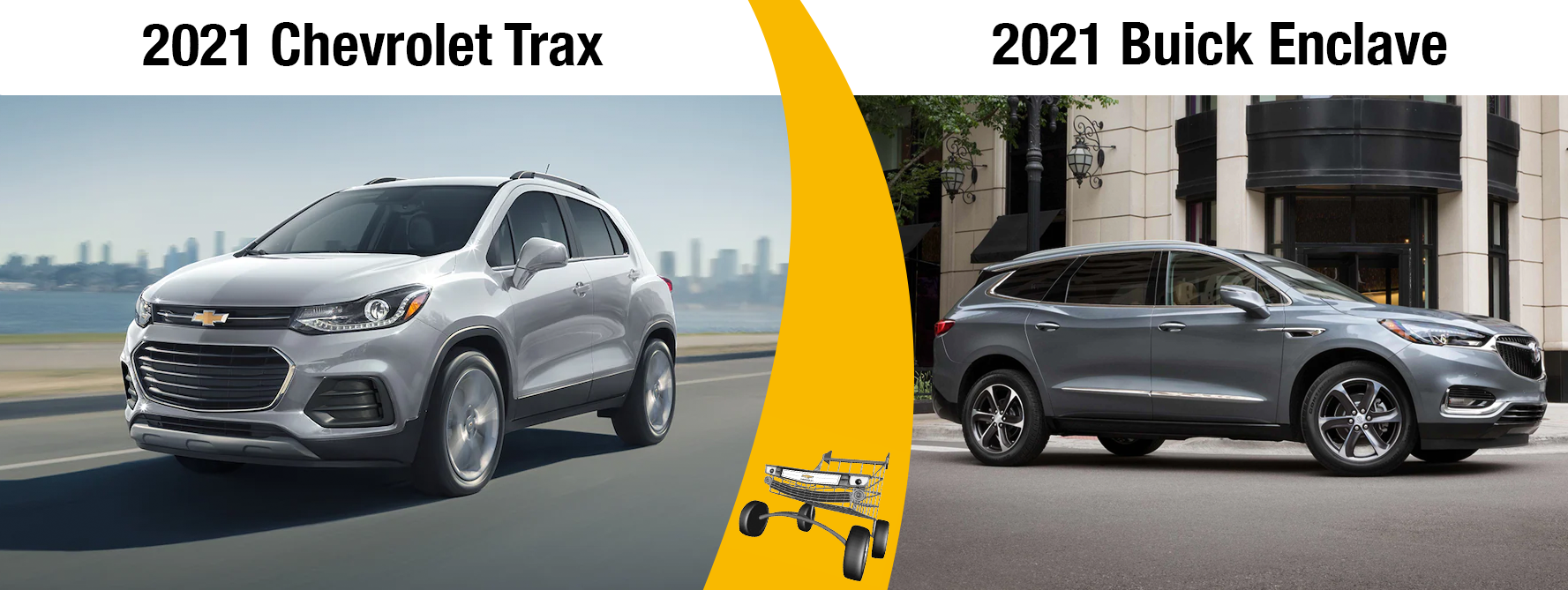 New 2021 Chevrolet Trax Vs 2021 Buick Enclave