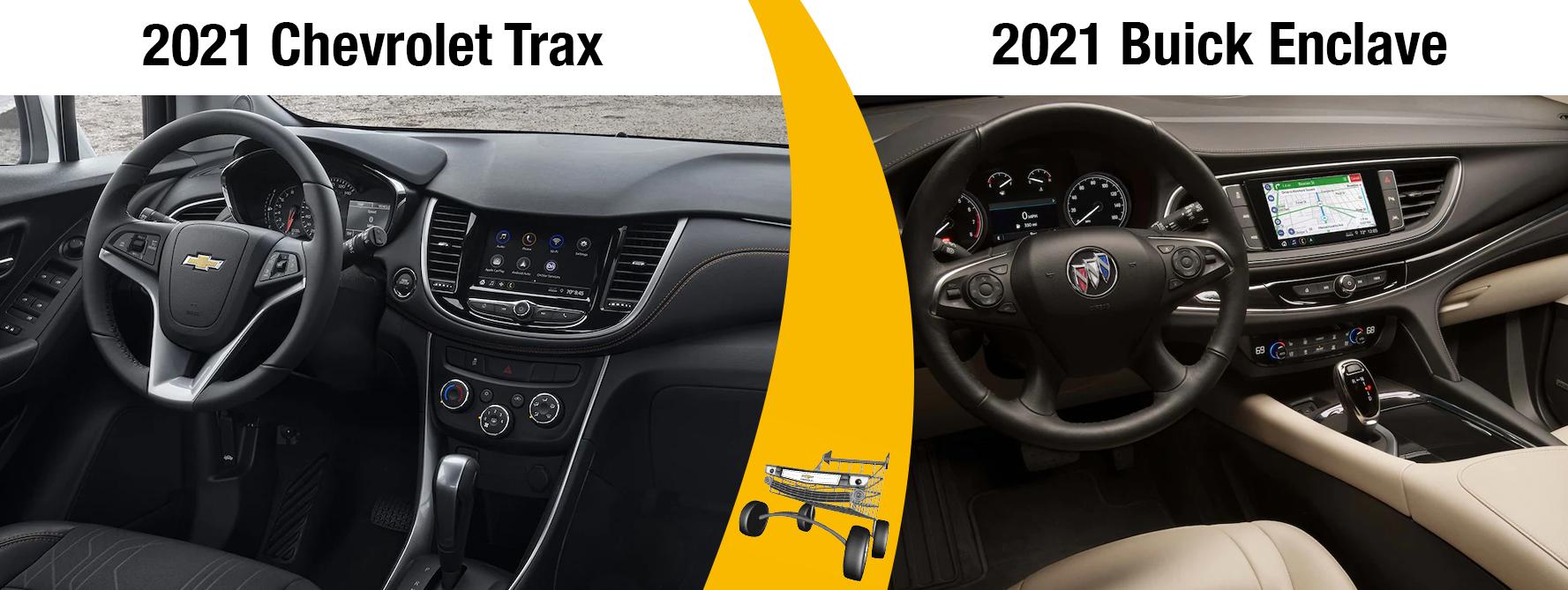 New 2021 Chevrolet Trax Vs 2021 Buick Enclave Comparisons