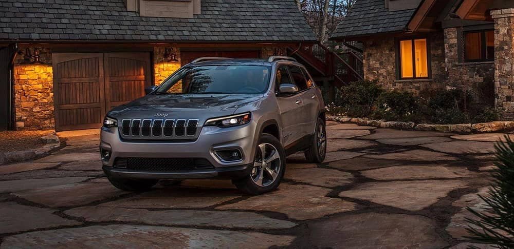2019 Jeep Cherokee in front of house