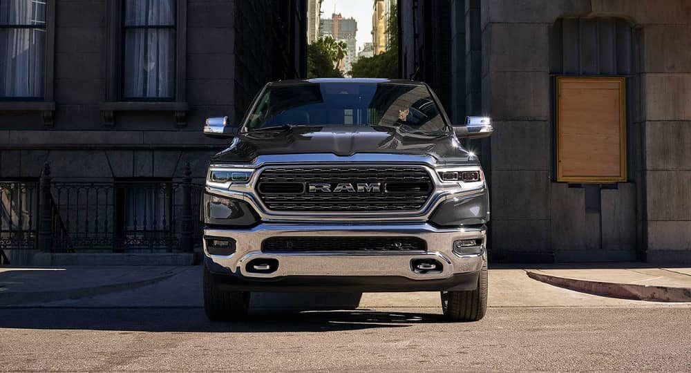 2019 Ram 1500 in a city alley