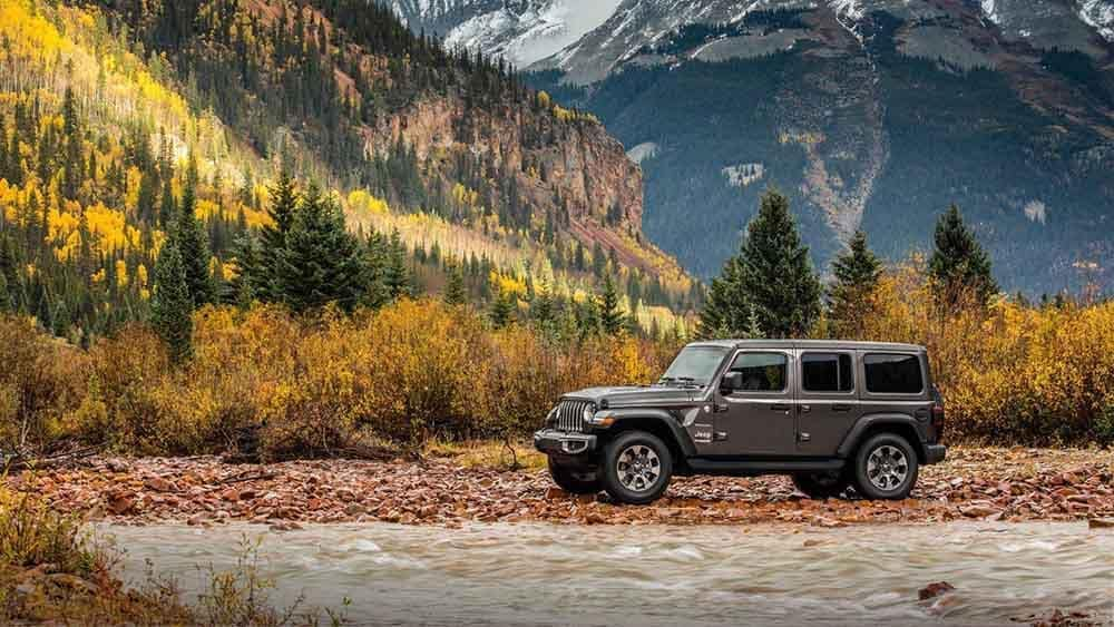 Jeep Wrangler in Mountain Valley