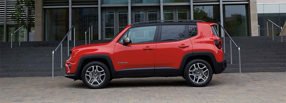 Red Jeep Renegade Side Profile