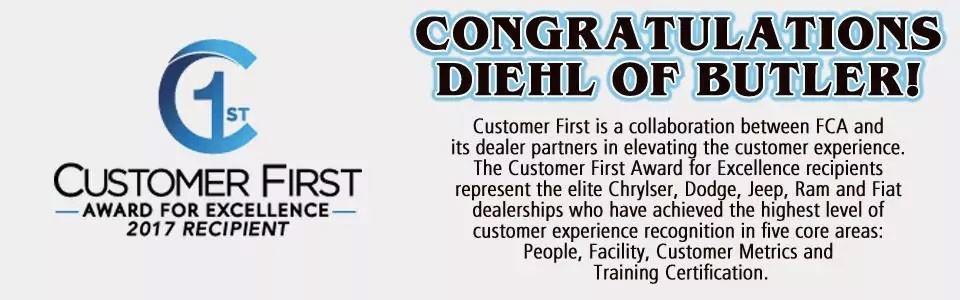 Diehl Chrysler Dodge Jeep Ram is Proud to Receive 2017 Customer ...