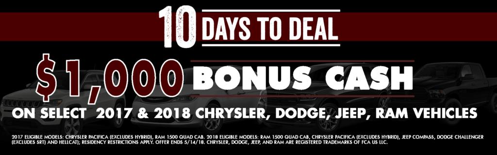 10 days to deal chrysler jeep dodge ram diehl automotive butler pa