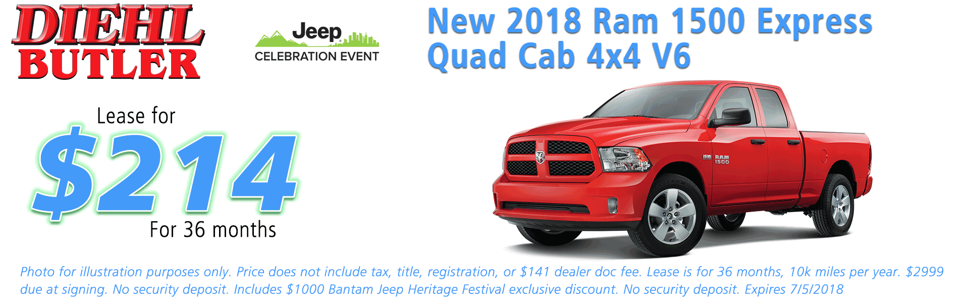 NEW 2018 RAM 1500 EXPRESS QUAD CAB® 4X4 6'4