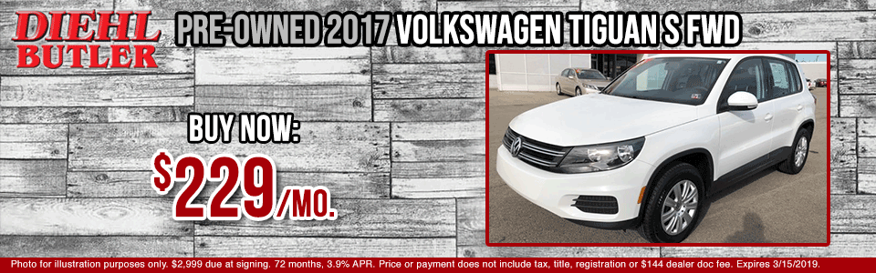 P25777-2017-volkswagen-tiguan pre-owned vehicle specials used vehicle specials volkswagen specials vw specials certified pre-owned low payment diehl automotive diehl auto