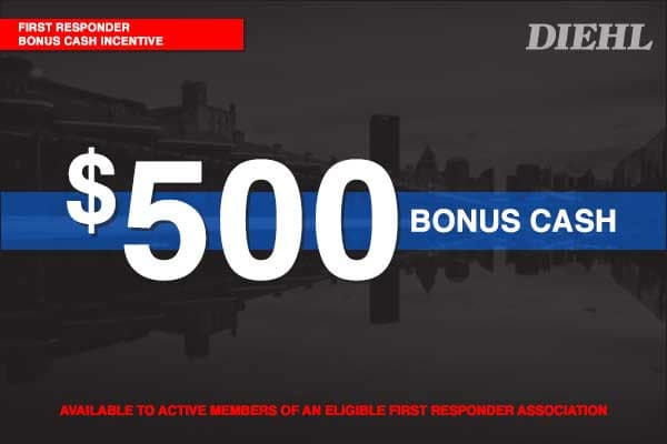 FIRST RESPONDER BONUS CASH INCENTIVE