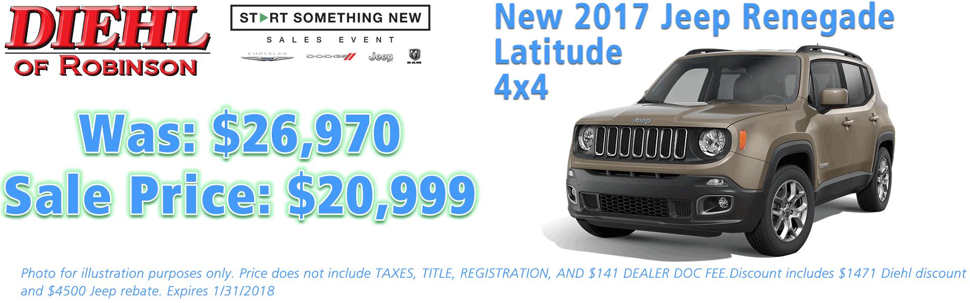 jeep renegade special latitude 4x4