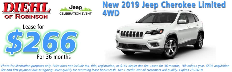 NEW 2019 JEEP CHEROKEE LIMITED 4X4 diehl of robinson robinson township pa 15136 chrysler jeep dodge ram